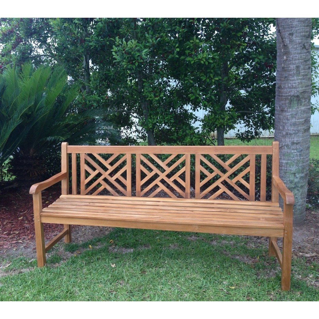 Teak Wood Chippendale Triple Bench By Chic Teak Only 694 29 En 2020 Bancs
