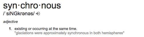 what is the meaning of synchronous