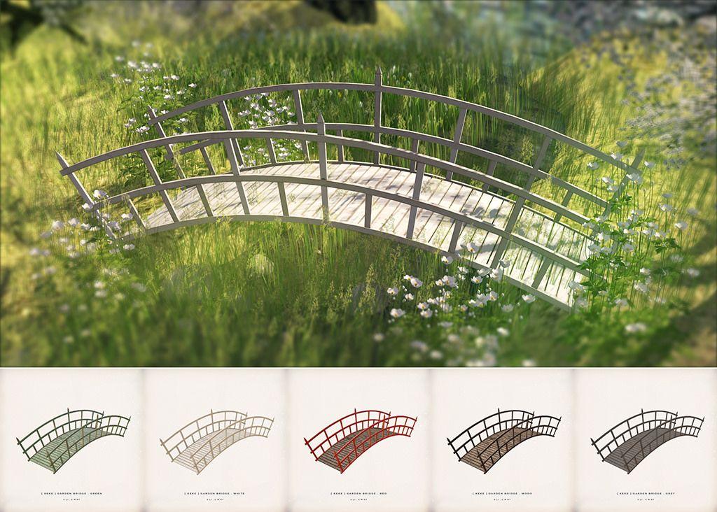 [ keke ] garden bridge The sims 4 pc, Sims 4 build, Sims 4