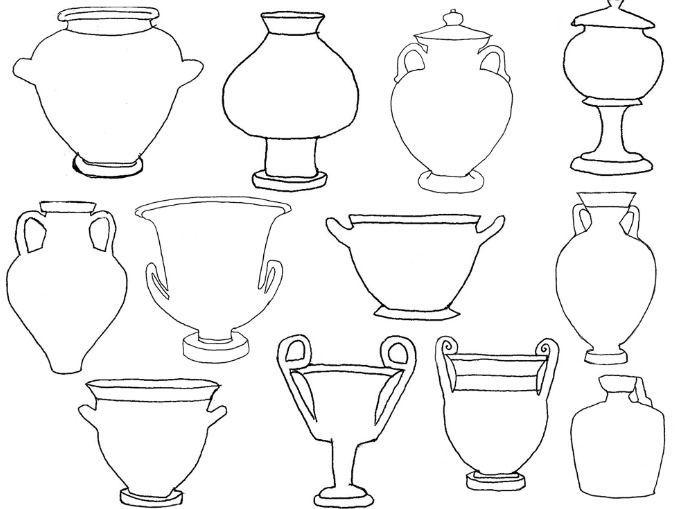 Greek Vase Shapes Branchvasesdecor Branch Vases Decor In 2018