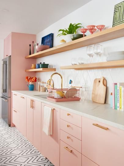 Tour the Pastel Pink Kitchen of Your Dreams