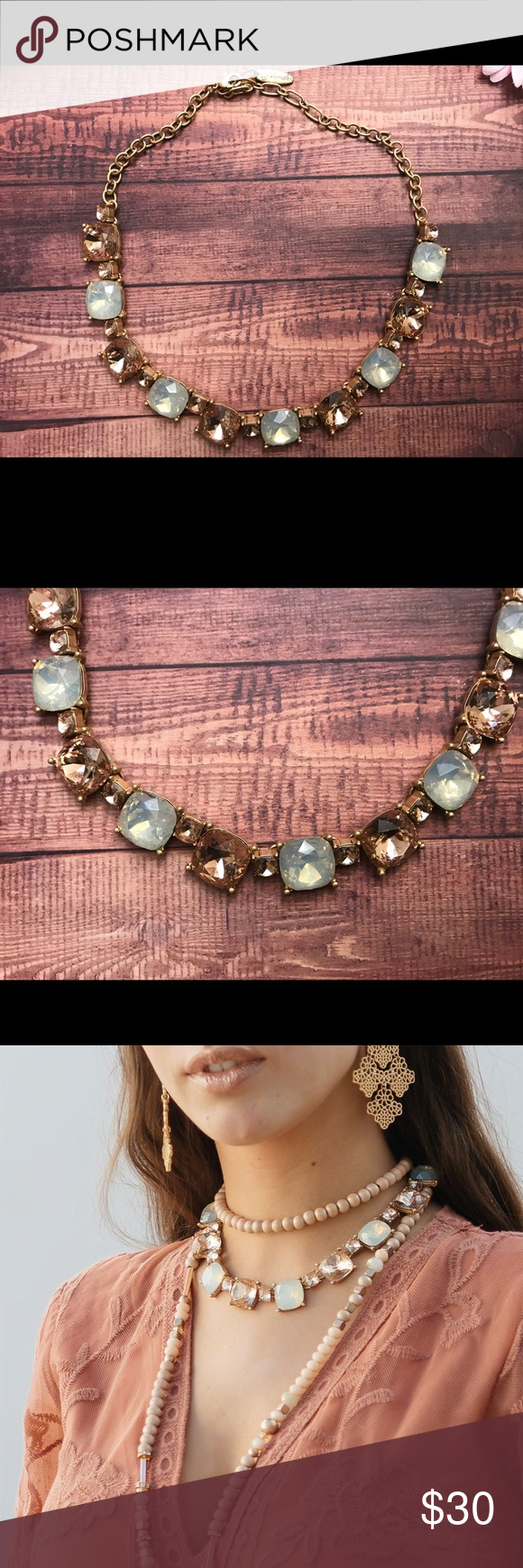 Champagne And Sea Foam Green Necklace My Posh Picks Pinterest Body Gold Setting 155 215 Adjustable Plunder Jewelry Necklaces