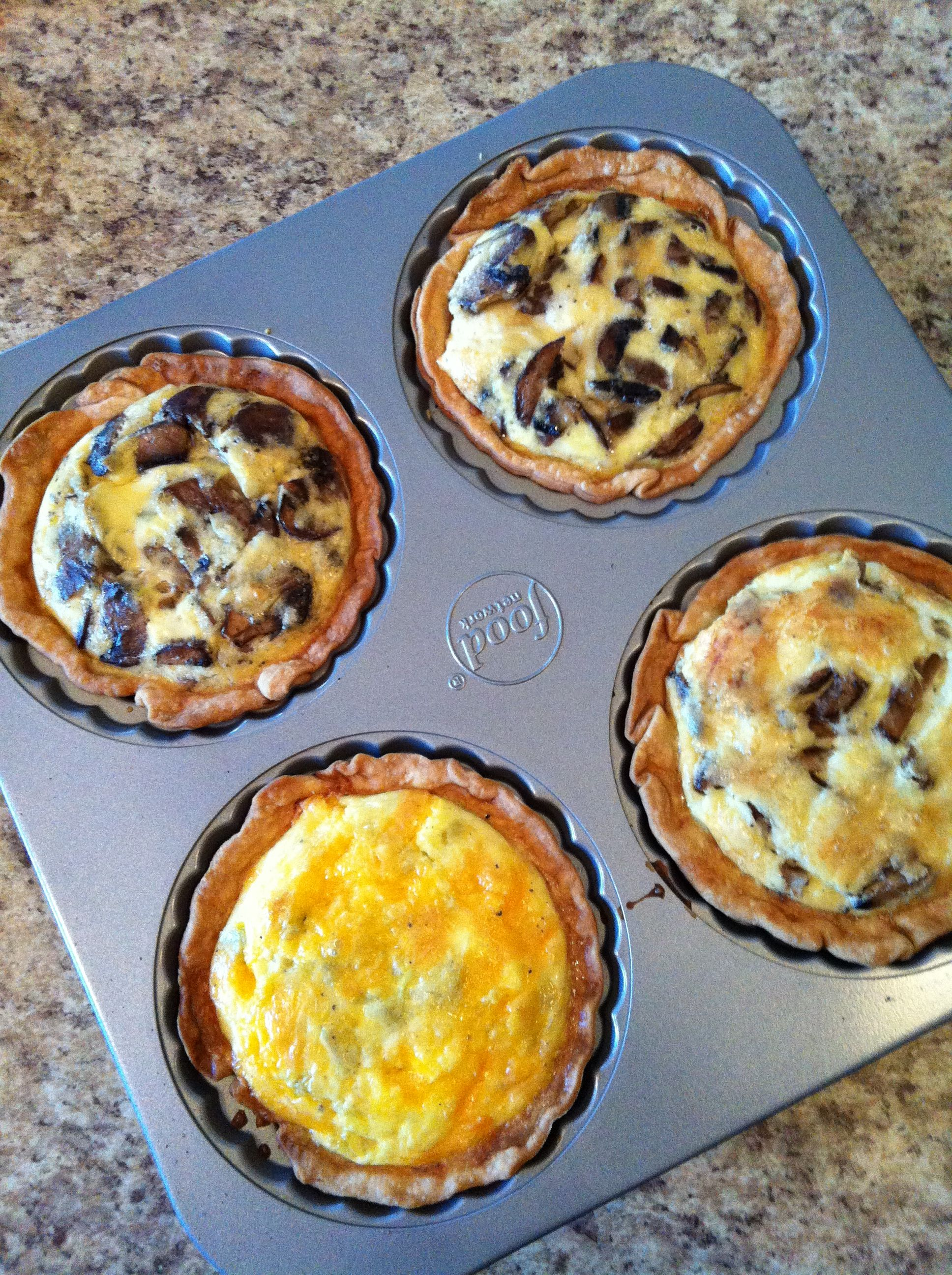 Single serving quiche made in food network mini pie pan. recipe pie crust ( & Single serving quiche made in food network mini pie pan. recipe: pie ...