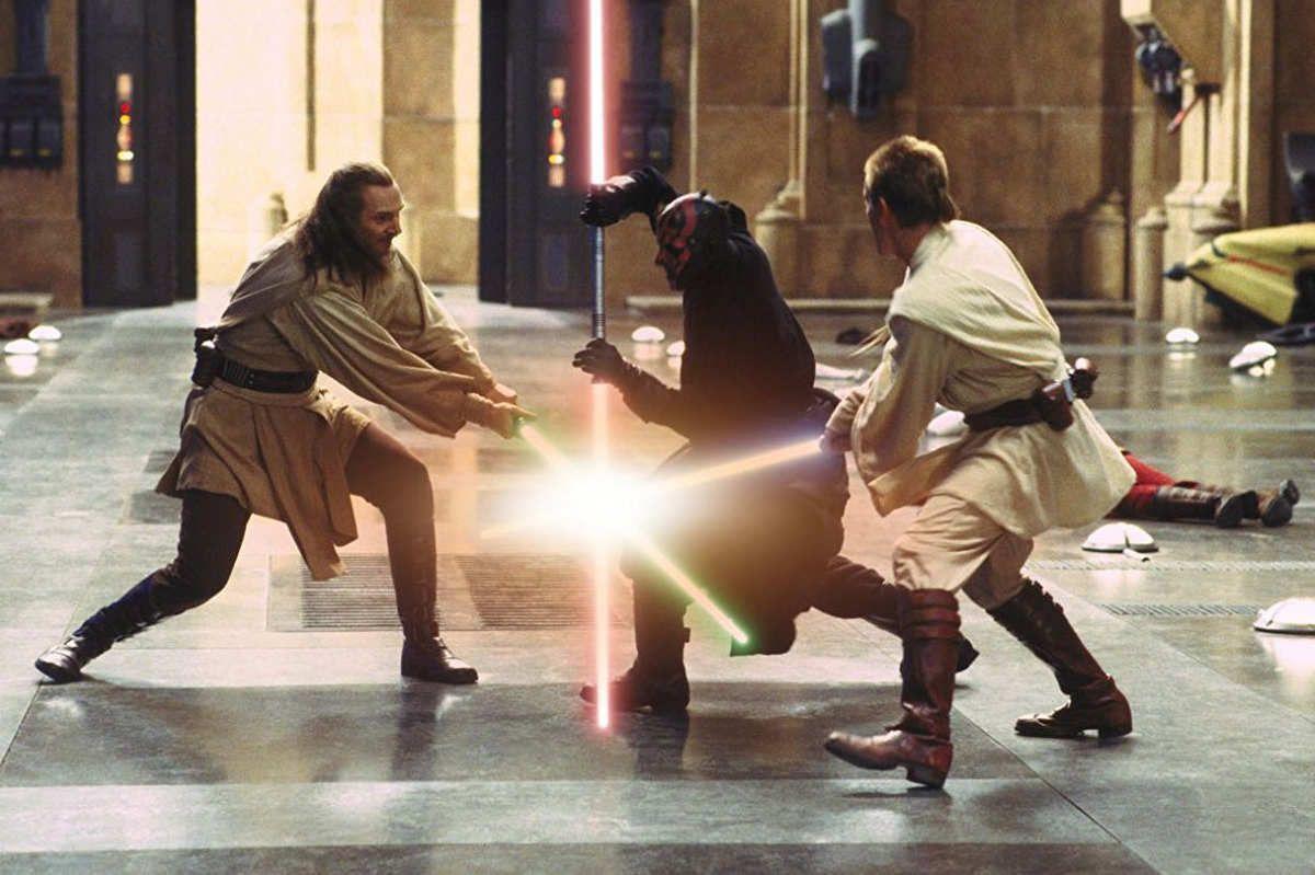 how the phantom menace s epic lightsaber fight came together star