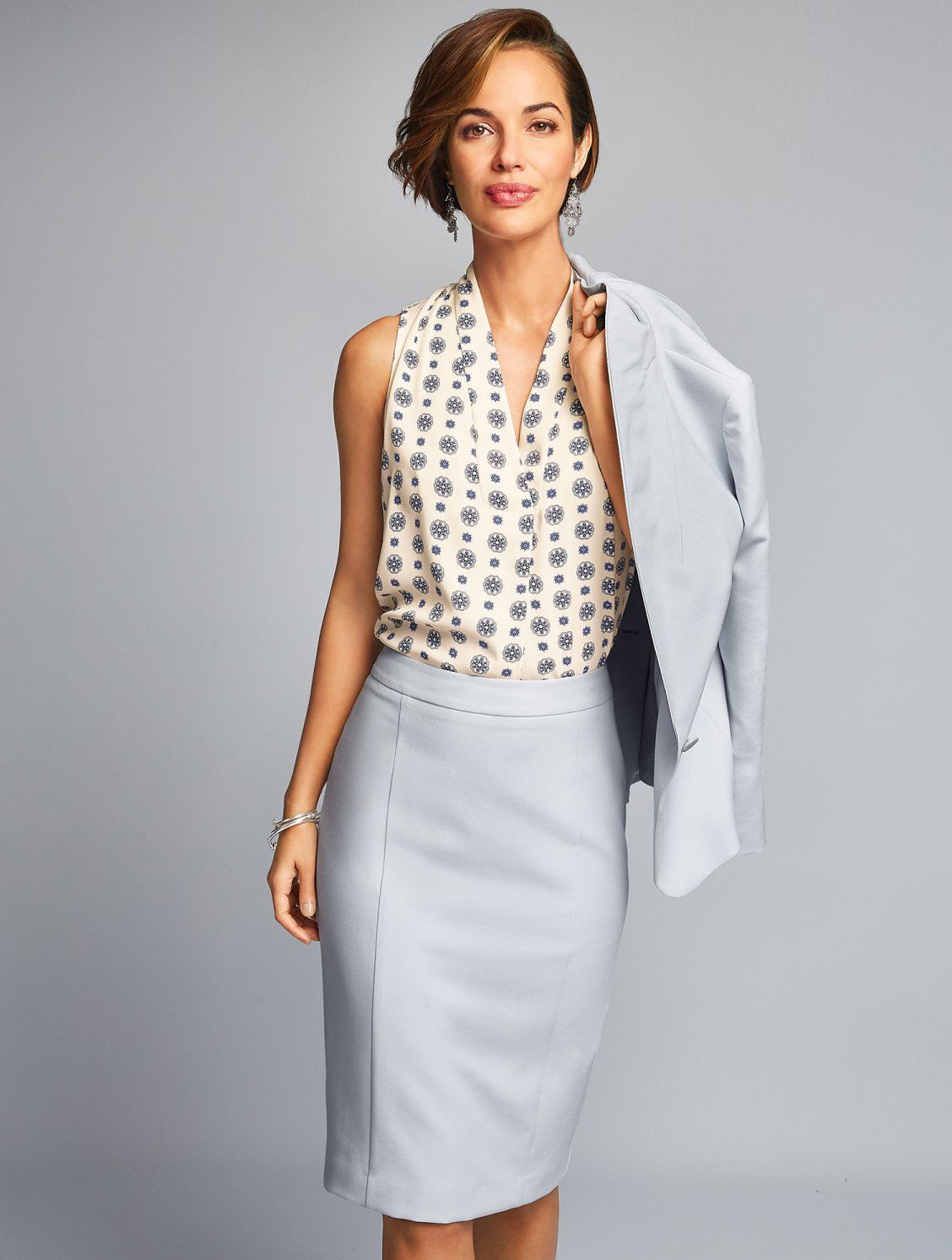 5e2c42617f Crafted from fabric woven in Italy, our elegant pencil skirt features a  back vent for extra ease. Pair with a shell or blouse and our Italian Luxe  Woven ...