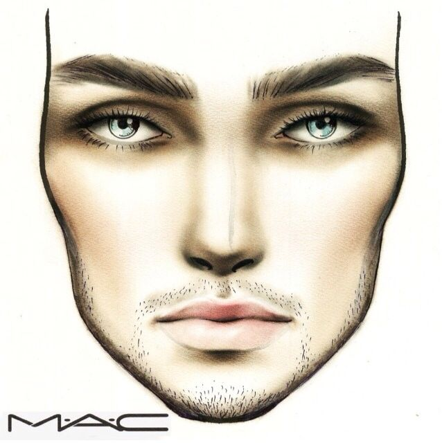 Male face chart  wouldn   have thought about doing this to try also rh pinterest