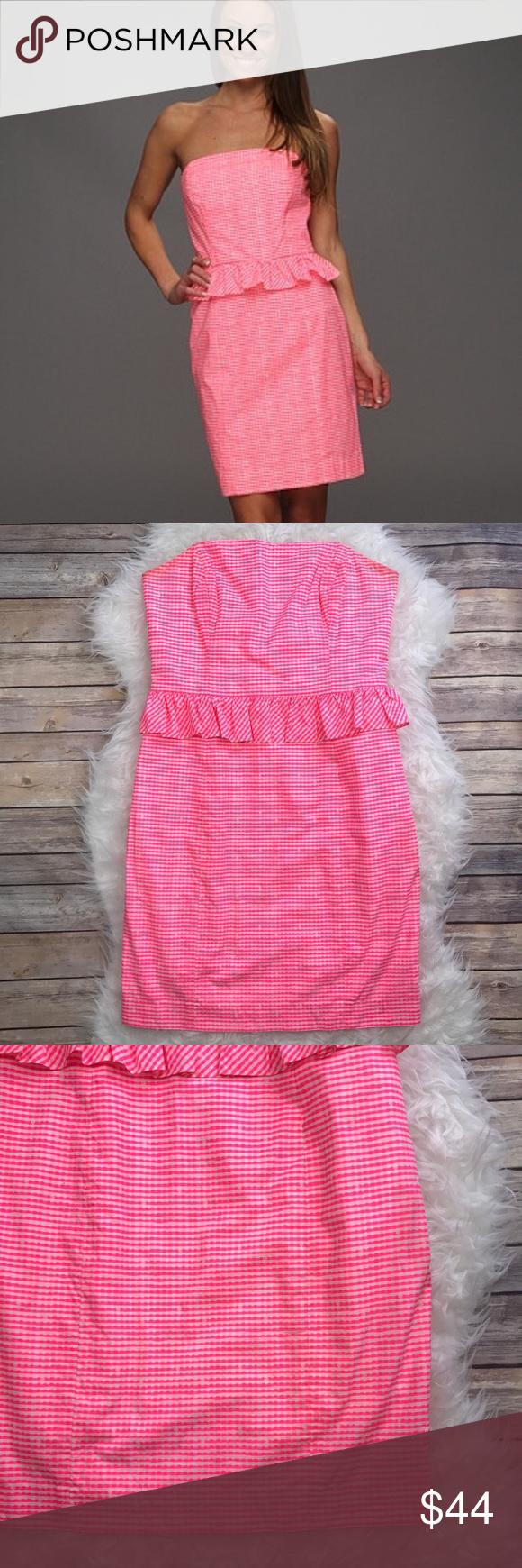 Lilly Pulitzer Fiesta Pink Lowe Peplum Dress