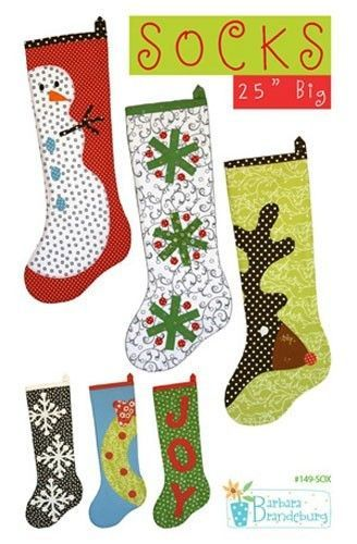 Christmas Stocking Sewing Pattern, Free shipping with fabric ...