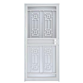 Gatehouse White Steel Recessed Mount Single Security Door Common