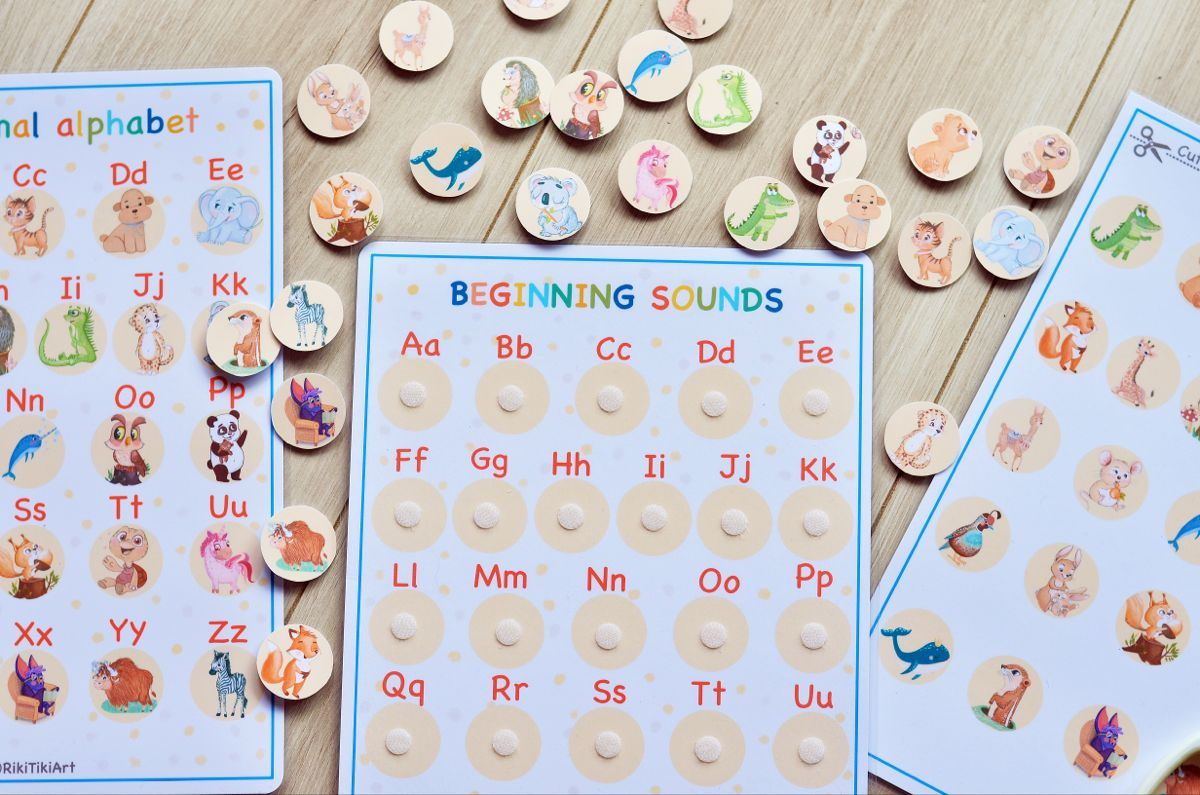 Busy Book Worksheet Preschool Curriculum Beginning Sounds