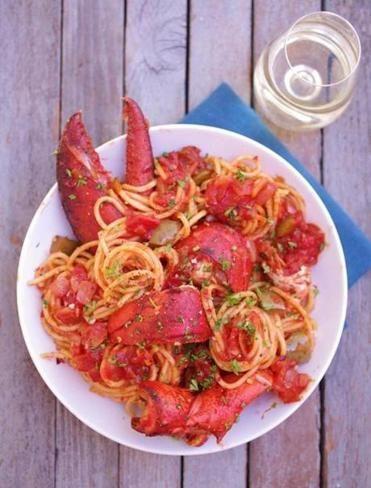 Rezept für Hummer fra Diavolo mit Spaghetti