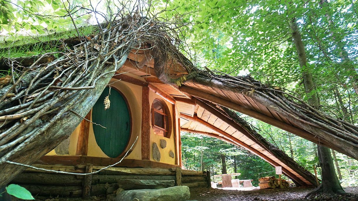 Hobbit House With Amazing Green Roof Video Green Roof Hobbit House Small House Design Plans