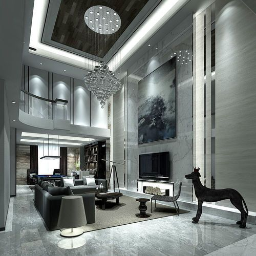 Cutaway Apartment Full Furnitures Modern Design: Contemporary Living Room Design Full Model 3D Model