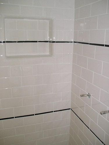 Subway Tile Shower Stall View II | Subway tile showers, Tile showers ...