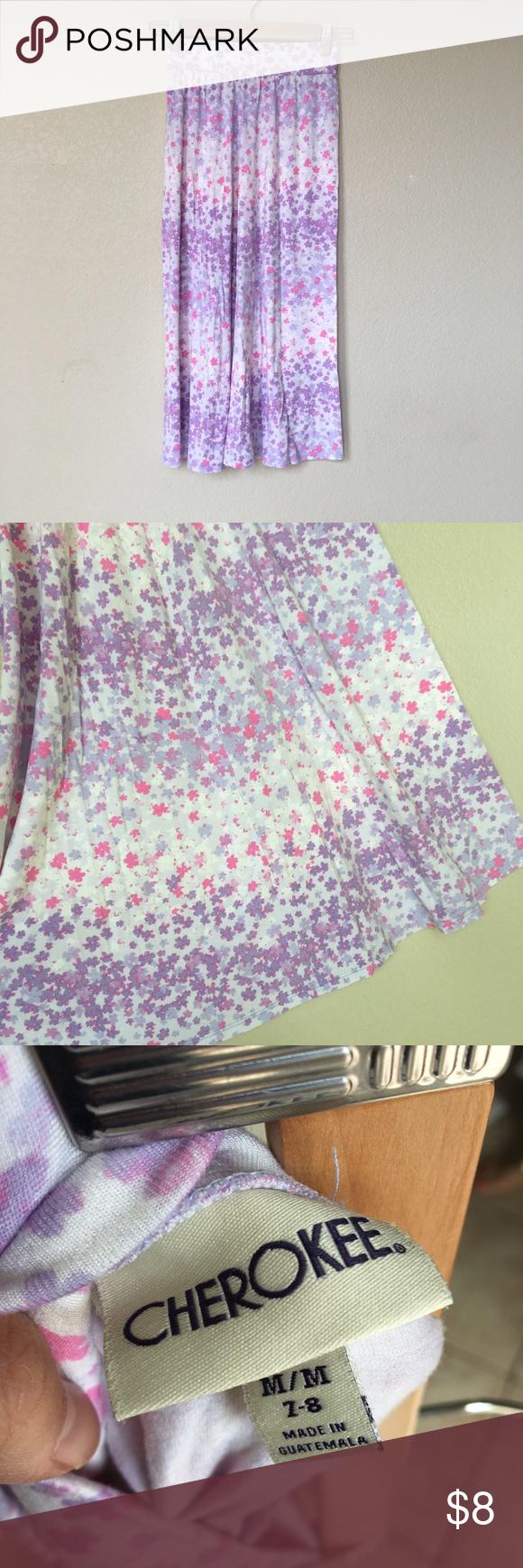 Long skirt girls 7/8 Like new. Size 7/8 girls long floral print skirt. Bottoms Skirts