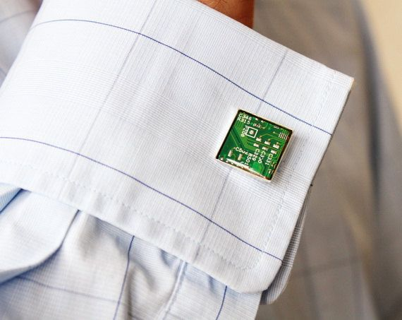 Circuit Board Cuff Links Geek Cufflinks Computer By Recomputing