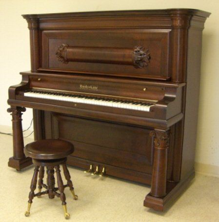 Precise Upright Victorian Piano With Fluting And Inlaid Decoration Well Loved And Used. Benches/stools Edwardian (1901-1910)
