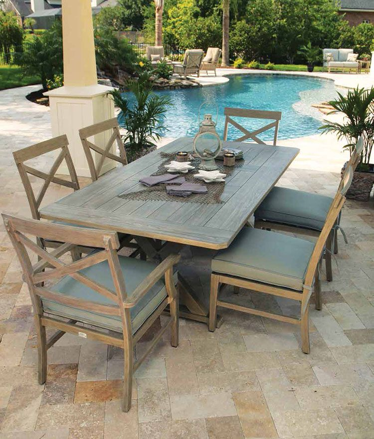 11 Decorating Ideas To Steal For Your Outdoor Dining Space With Images Outdoor Dining Spaces Rectangular Dining Table Patio Dining Set
