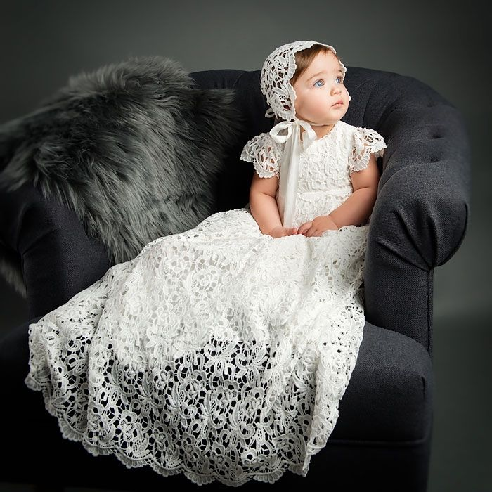Lola Christening Gown & Bonnet | Pinterest | Baptism clothes, Fancy ...