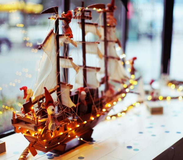 In Greece, It is tradition to decorate ships instead of trees. Isn't that awesome?