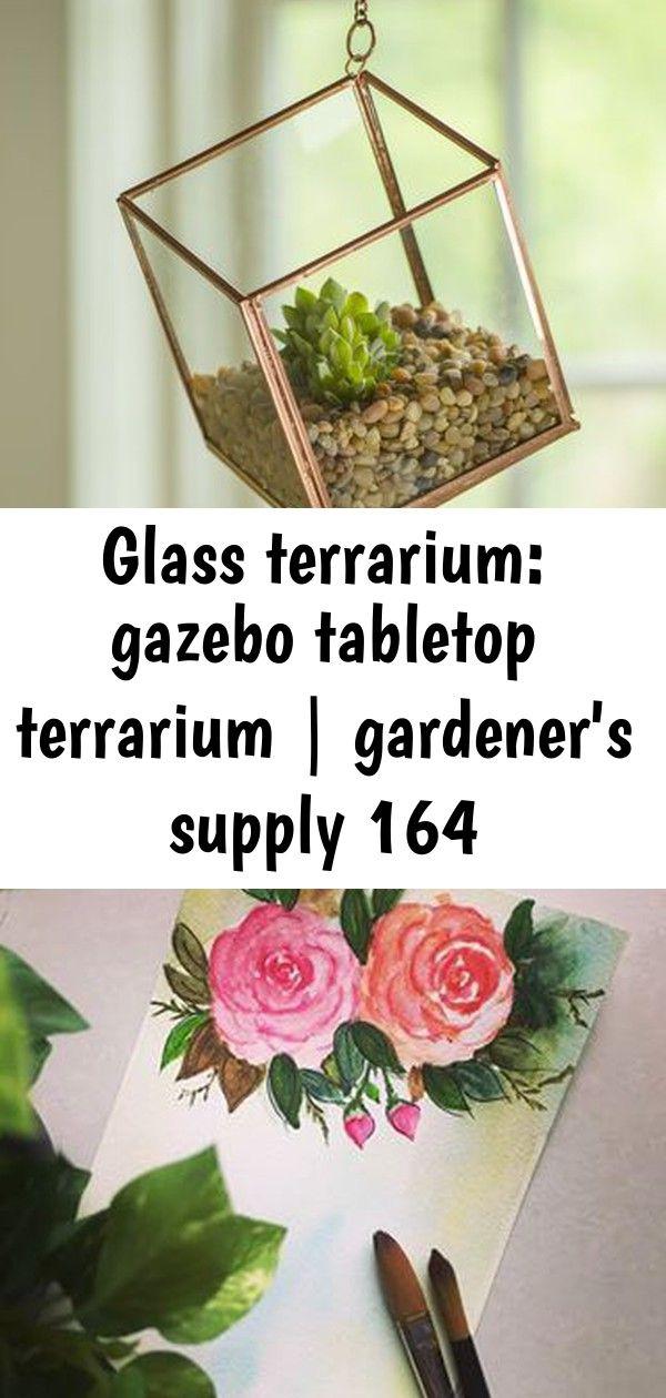 Glass terrarium: gazebo tabletop terrarium   gardener's supply 164 Gazebo Glass Terrarium Gives Your Plants a Timeless New Home Have a great day! ? mit einer Heißklebepistole. - Gute Gartenarbeit