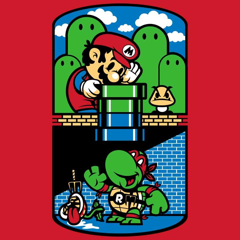 Finally a crossover that we can get behind! Help a Brother Out T-shirt.  #supermario #mario #mariobros #supermariobros #tmnt #teenagemutantninjaturtles #raphael #geekshirt #geek #geektshirt #shirt #shirtoftheday #kidsclothing #babyclothing #kidshirt #kidstshirt #coolkids