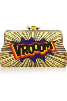 Finds - + Sarah's Bag Vroom embellished velvet clutch