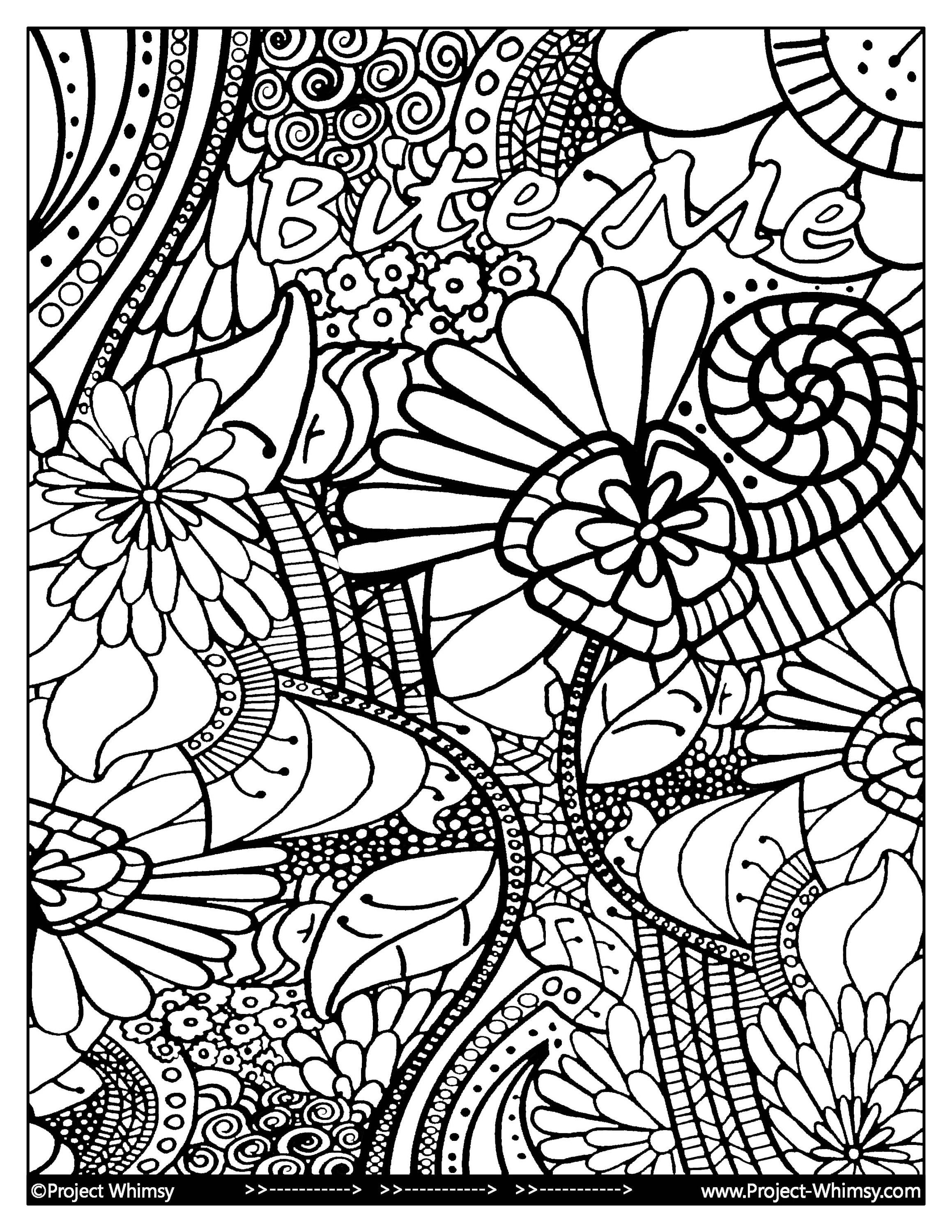 Bite Me Adult Coloring Book Instant Download Printing