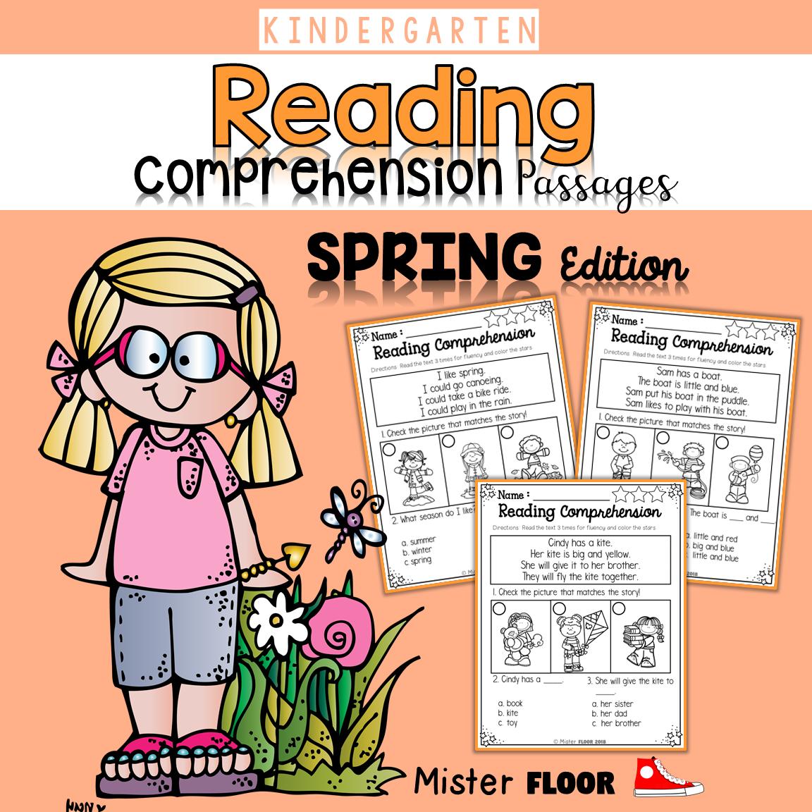 Kindergarten Reading Comprehension Spring