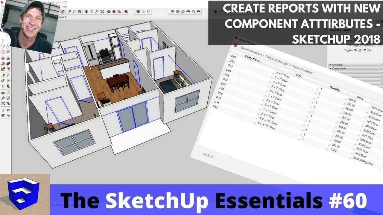 Using Sketchup 2018 S New Attributes To Generate Door Schedules