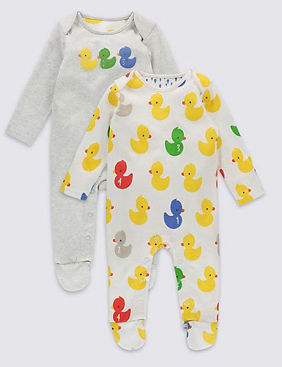 13c85f271 2 Pack Bath Time Duck Sleepsuits | models | Baby, Unisex baby ...