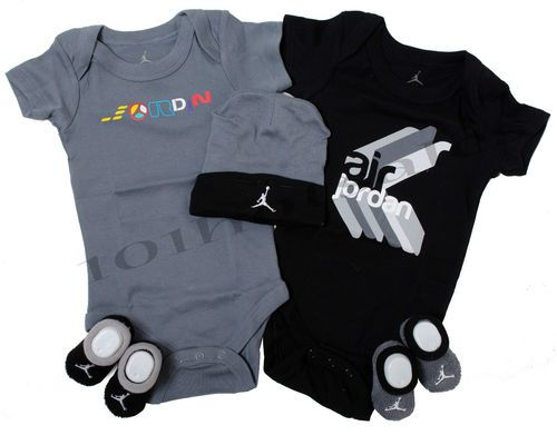 23f279c40ff1a Nike Newborn Jordan Infant Baby Boy 5Pc Bodysuit Onesie Booties Hat 0-6  Months