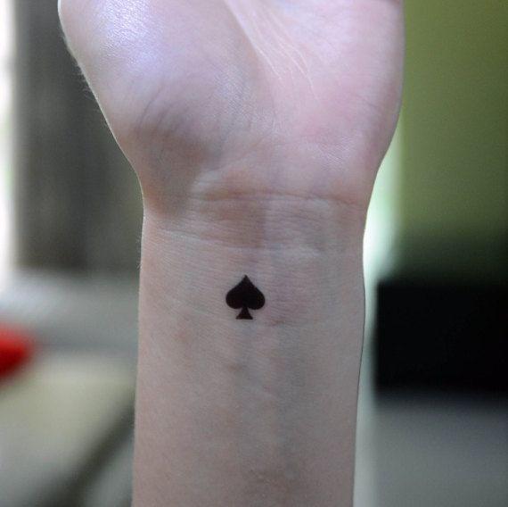 475d0b14a tiny spade | tattoo | Tattoos, Symbolic tattoos, Ace of spades tattoo