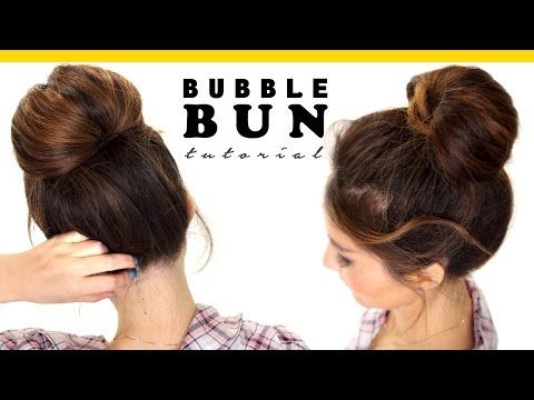 2-Minute BUBBLE BUN Hairstyle | Easy Hairstyles for Medium Long Hair - YouTube
