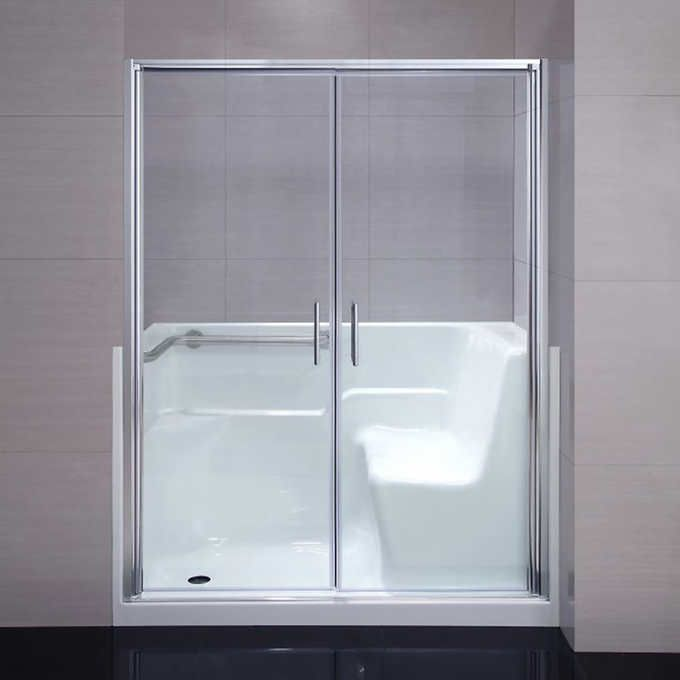 Seguria Walk In Shower Kit Tub Replacement Shower Kits Tub Shower Doors Walk In Shower Kits