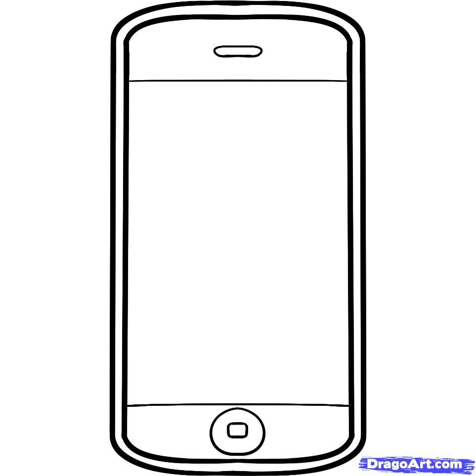 How To Draw An Iphone Iphone By Dawn Phone Template Teaching