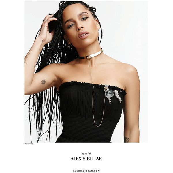 Zoe Kravitz Wears Box Braids in Alexis Bittar Ad ❤ liked on Polyvore featuring girls, models and pictures