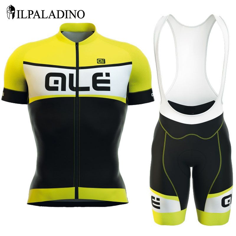 ILPALADINO Pro Cycling Jersey Set Summer Short Sleeve Polyester Cycling Jersey Set Ropa Ciclismo Quick-Dry Breatable Racing Top