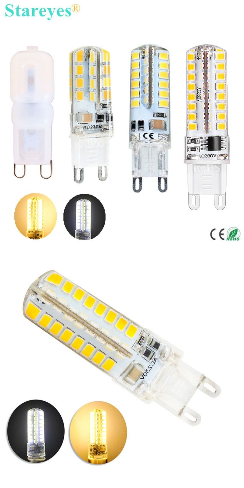 Free shipping piece silicone g w w w w smd led corn lamp
