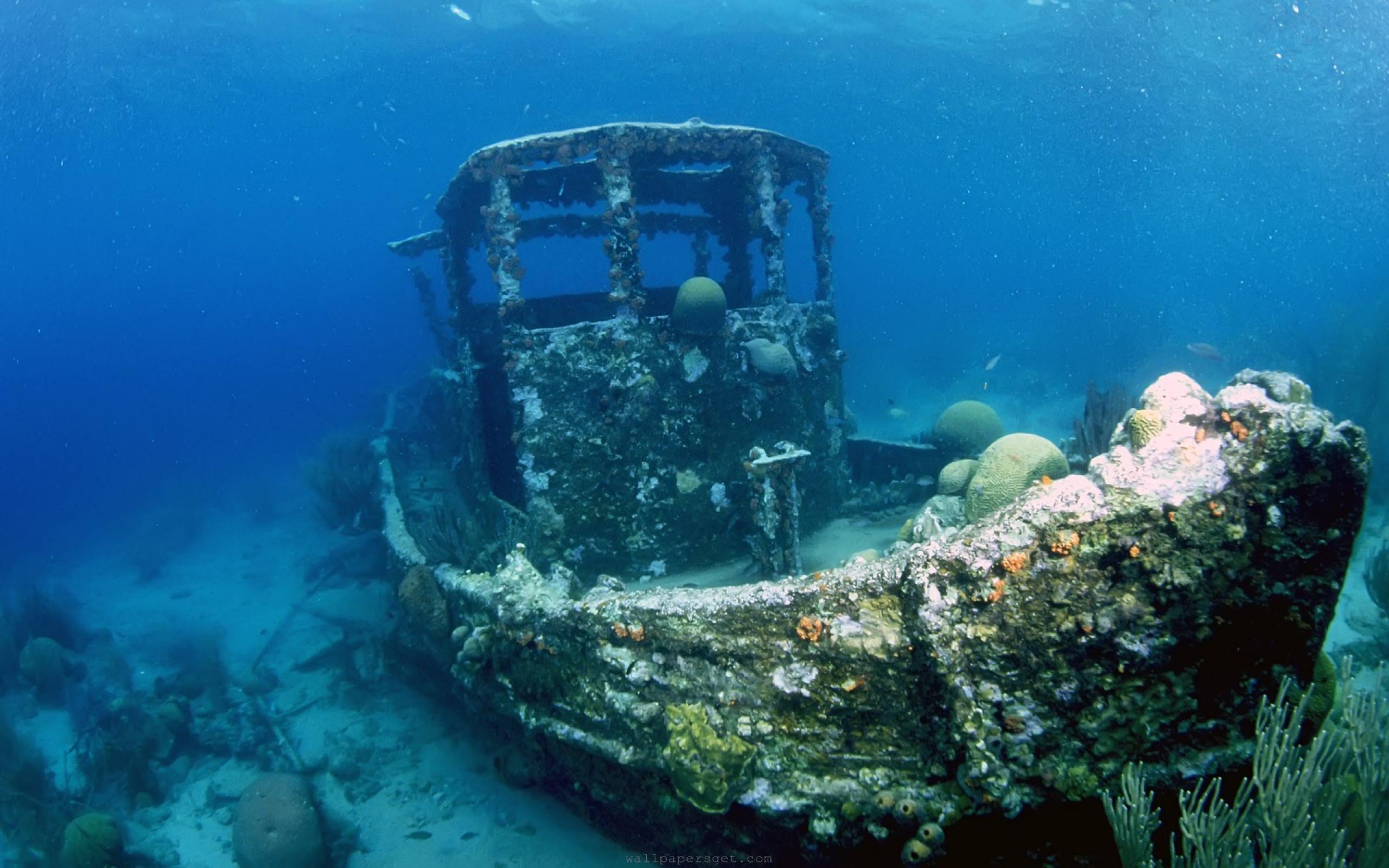 Wallpapers Coral Reefs Ship Seawater HD Widescreen