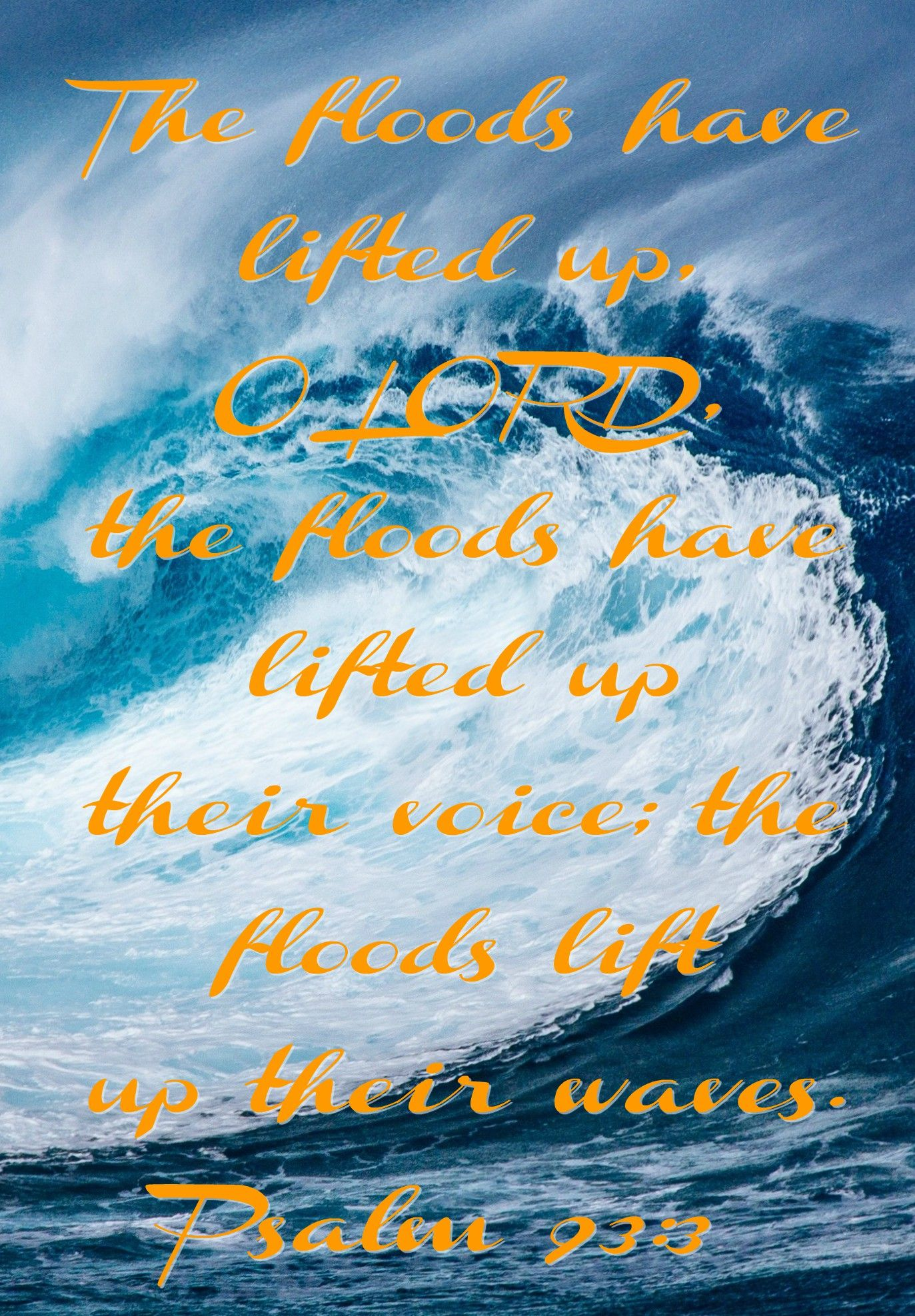 Image result for PSALM 93:3