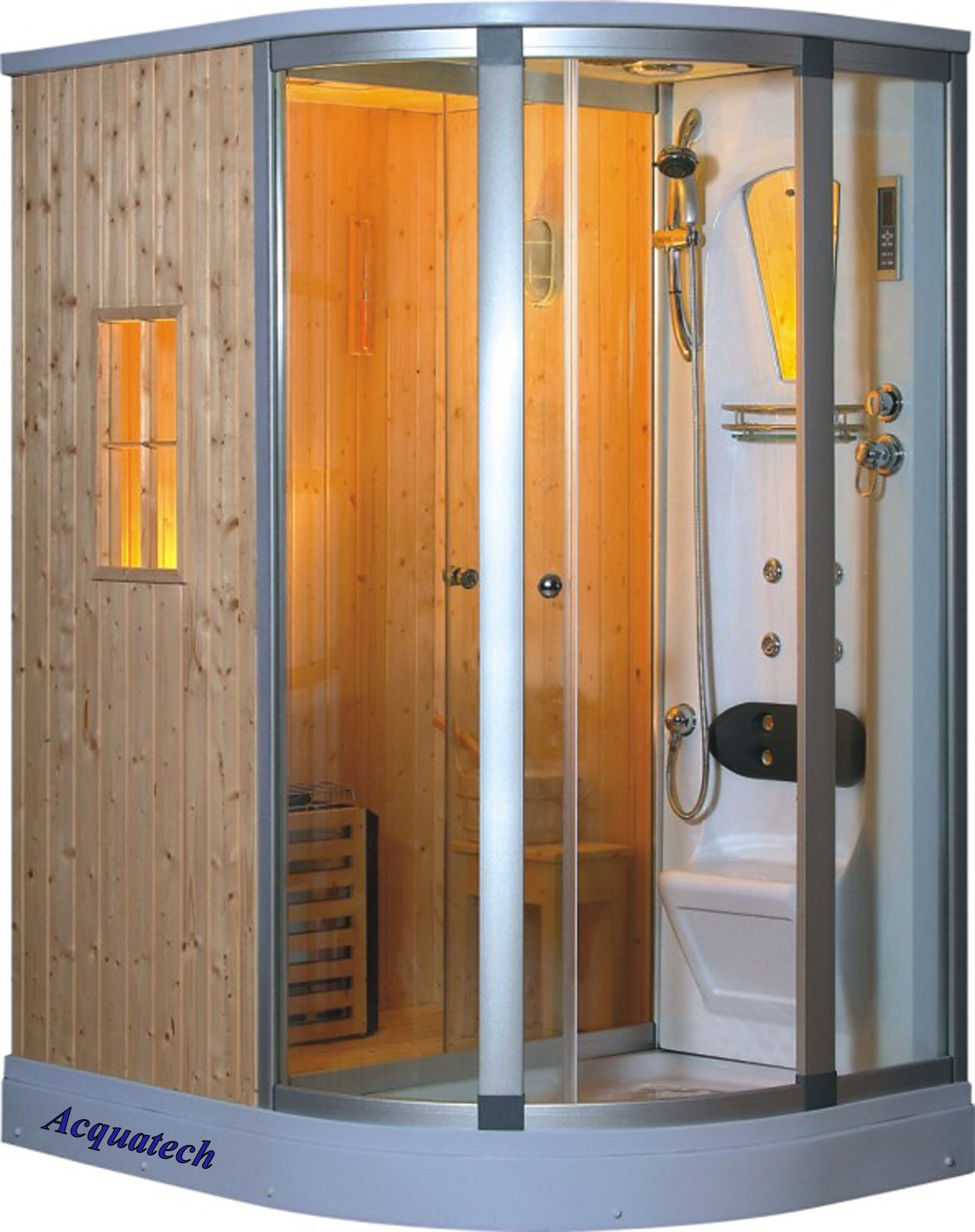 Fully Enclosed Shower www.acquatech.co  fully enclosed shower room fm radio, speaker