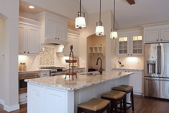 The beautiful kitchen in 1885 Tupelo Drive - North Liberty. This is one of our 2014 Parade Homes.
