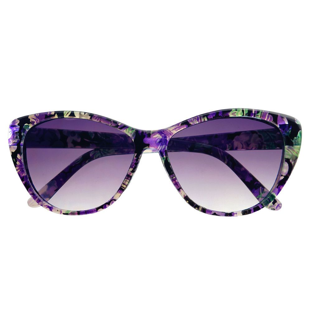 bbd5c39dc9f2 Cute Womens Retro Fashion Floral Print Cat Eye Sunglasses C1360 – FREYRS -  Beautifully designed