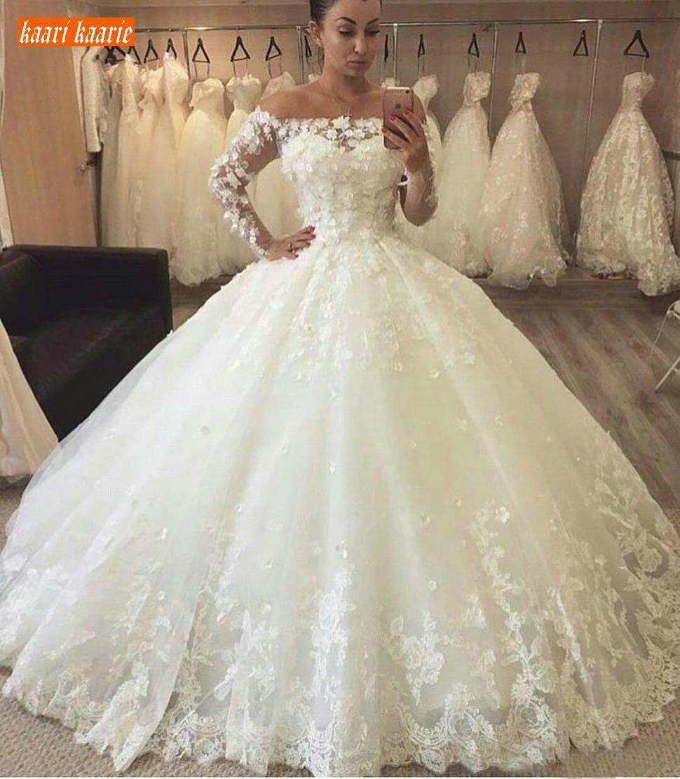Pin by ALIA MAISARAH on Fesyen in 9  Long sleeve wedding dress