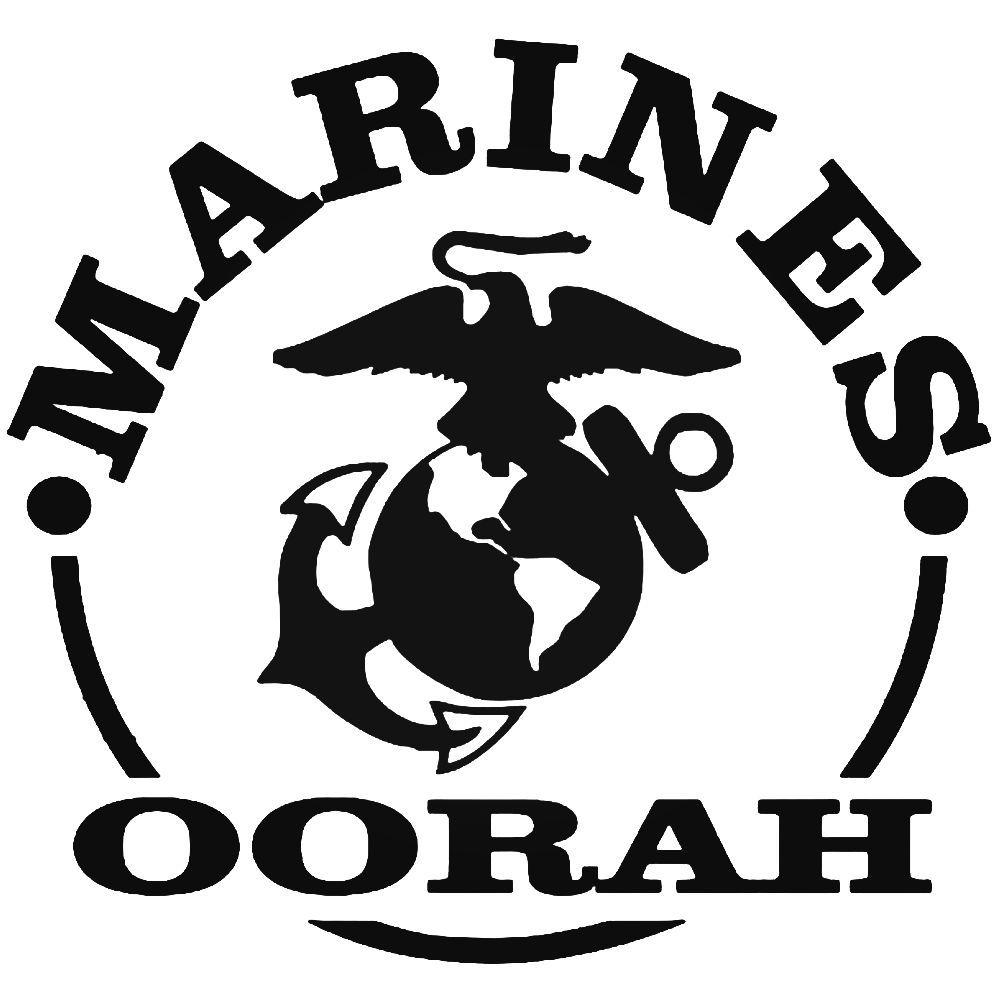 Marines Oorah Vinyl Decal Sticker BallzBeatz . com