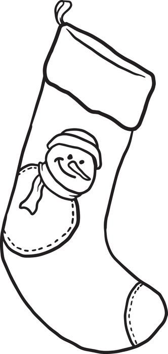 Stocking Coloring Page Printable Stocking Coloring Page Printable