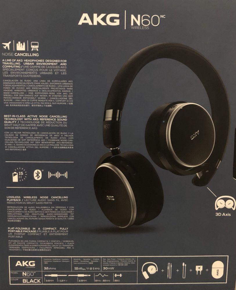 e52e58dcbb2 AKG N60 NC HARMAN Noise Cancelling Headphones Wired/Wireless Version  Bluetooth 28292269776   eBay