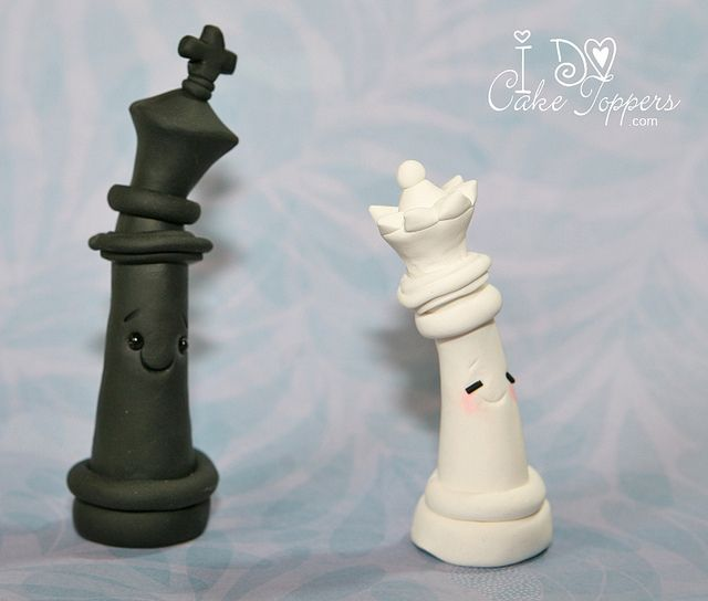 chess cake topper like your moves by i do cake toppers via flickr cake. Black Bedroom Furniture Sets. Home Design Ideas