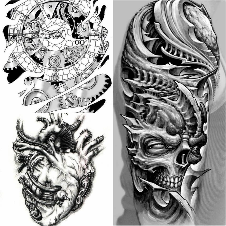 Pin On 3d Biomechanical Tattoos
